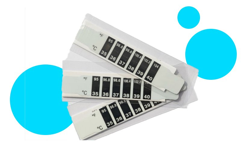 disposable thermometer strips