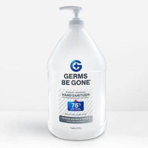 bulk hand sanitizer gallon front